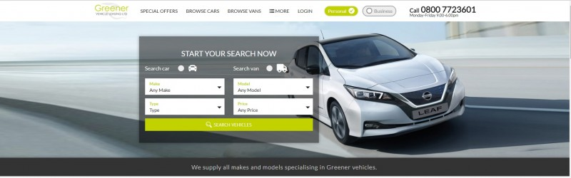 Greener Vehicle Leasing New Web Site Goes Live